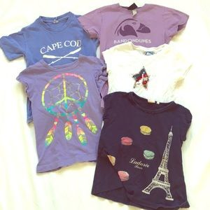 Other - Set of Five Girls Spring T-shirts